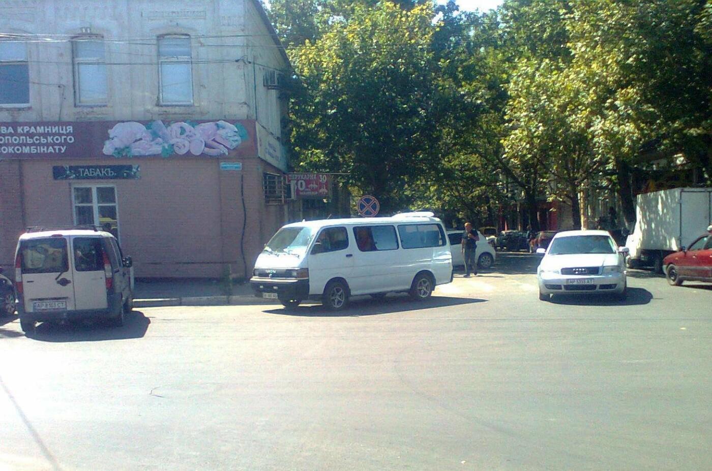 В нижней части Мелитополя заметили очередного автохама, фото-2, Фото из соцсетей