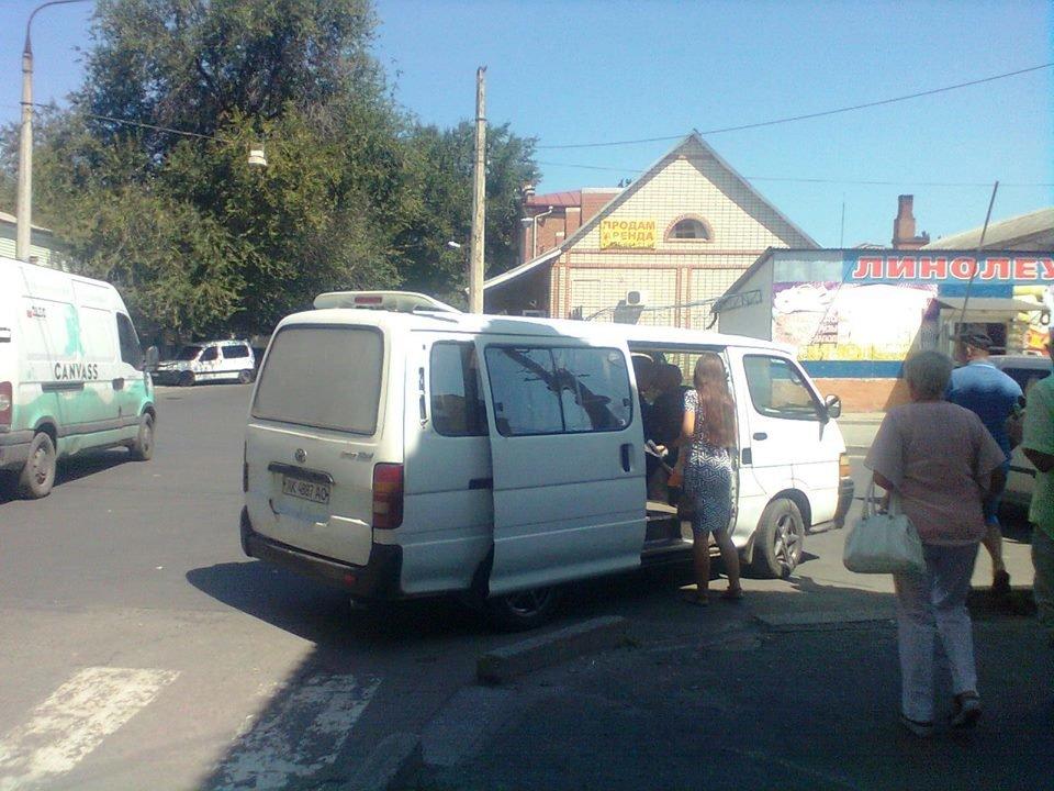 В нижней части Мелитополя заметили очередного автохама, фото-1, Фото из соцсетей