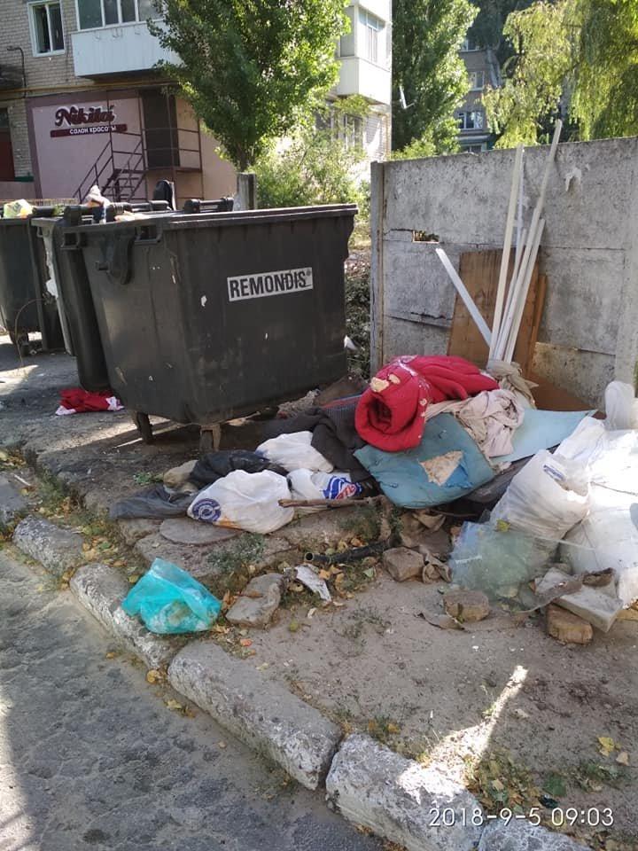 Виноваты сами: мелитопольцы устроили свалку во дворе многоэтажного дома , фото-1, Фото из соцсетей