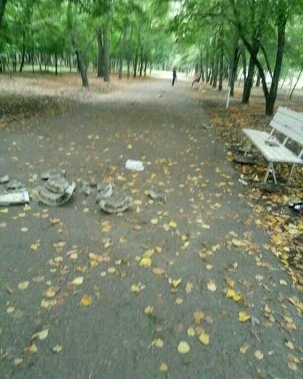 В мелитопольском парке неизвестные устроили погром, фото-1