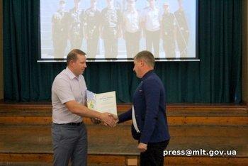 Мелитопольских спасателей поздравил мэр города, фото-1