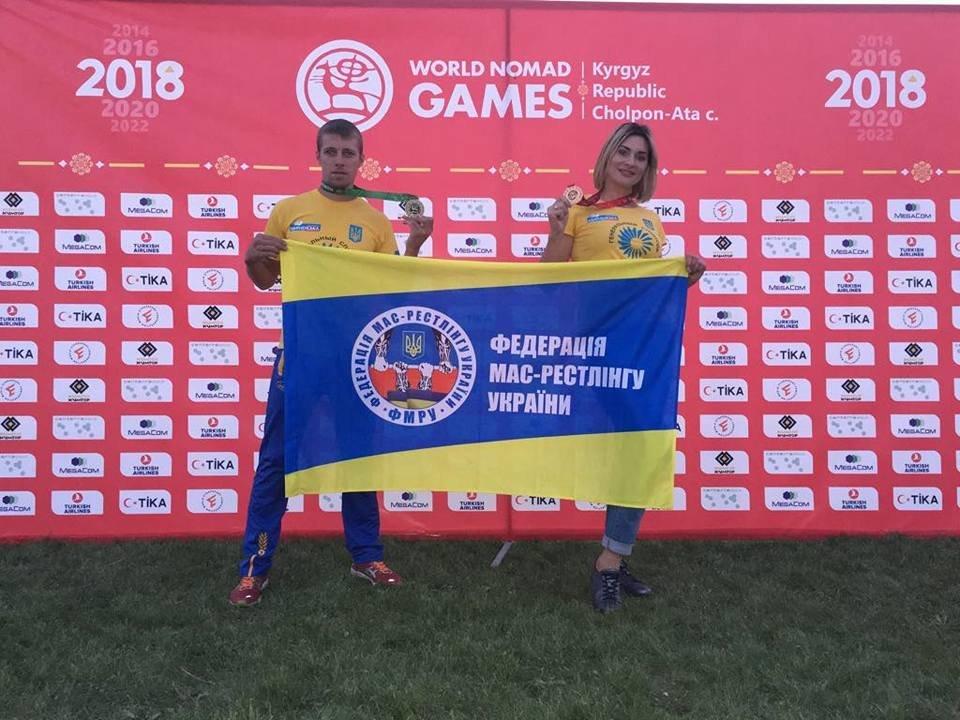 Сборная Украины по мас-рестлингу завоевала четыре медали на престижных соревнованиях, фото-7