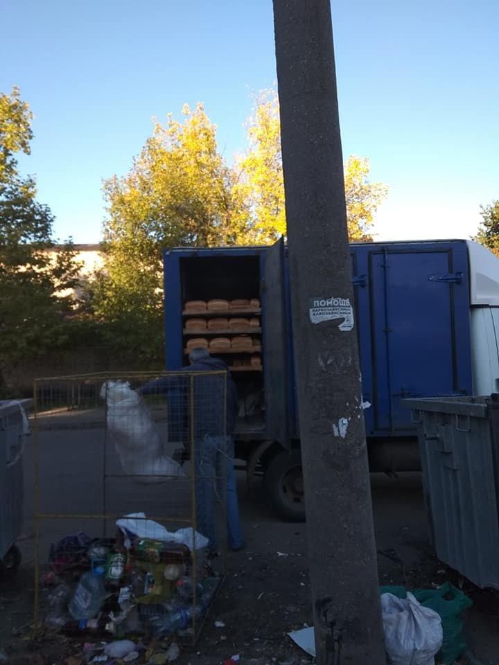 В Мелитополе хлеб перевозят вместе с мусором , фото-1