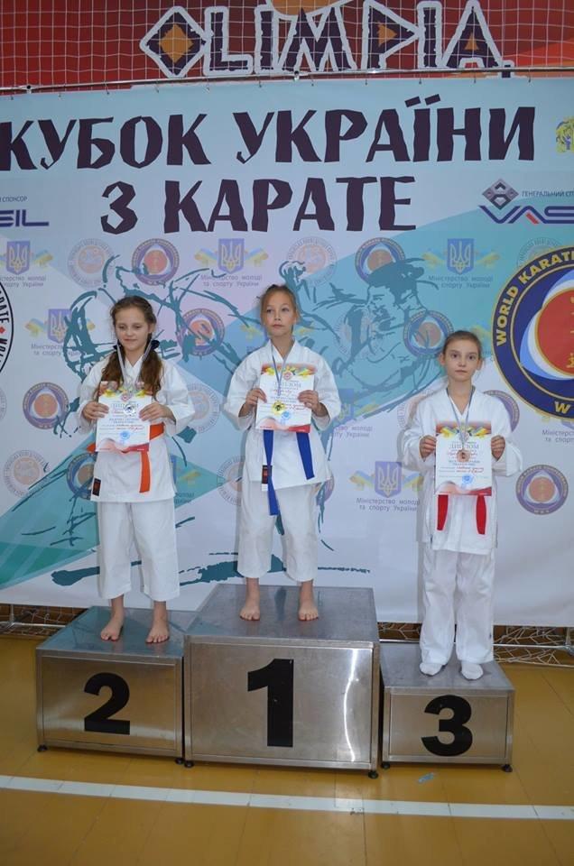 Юная мелитопольская каратистка стала призером Кубка Украины, фото-1