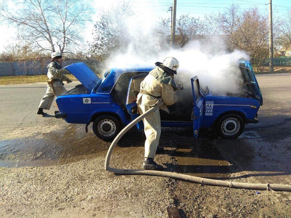 В Акимовском районе горел автомобиль, - ФОТО, фото-2
