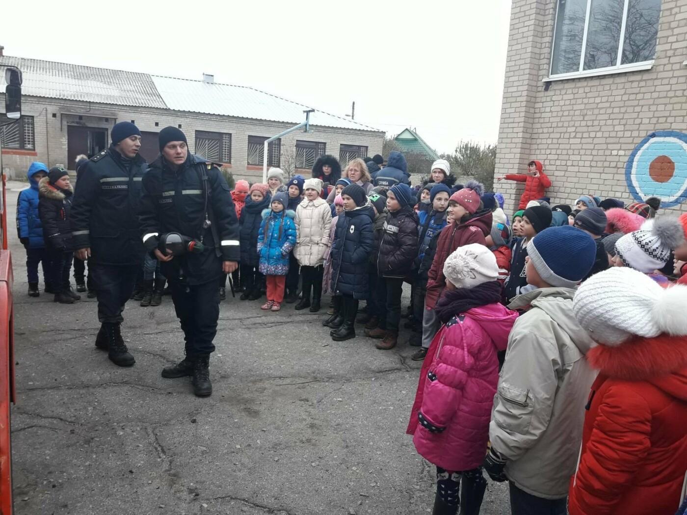 Мелитопольские спасатели провели учения по пожарной безопасности  в школе , фото-4