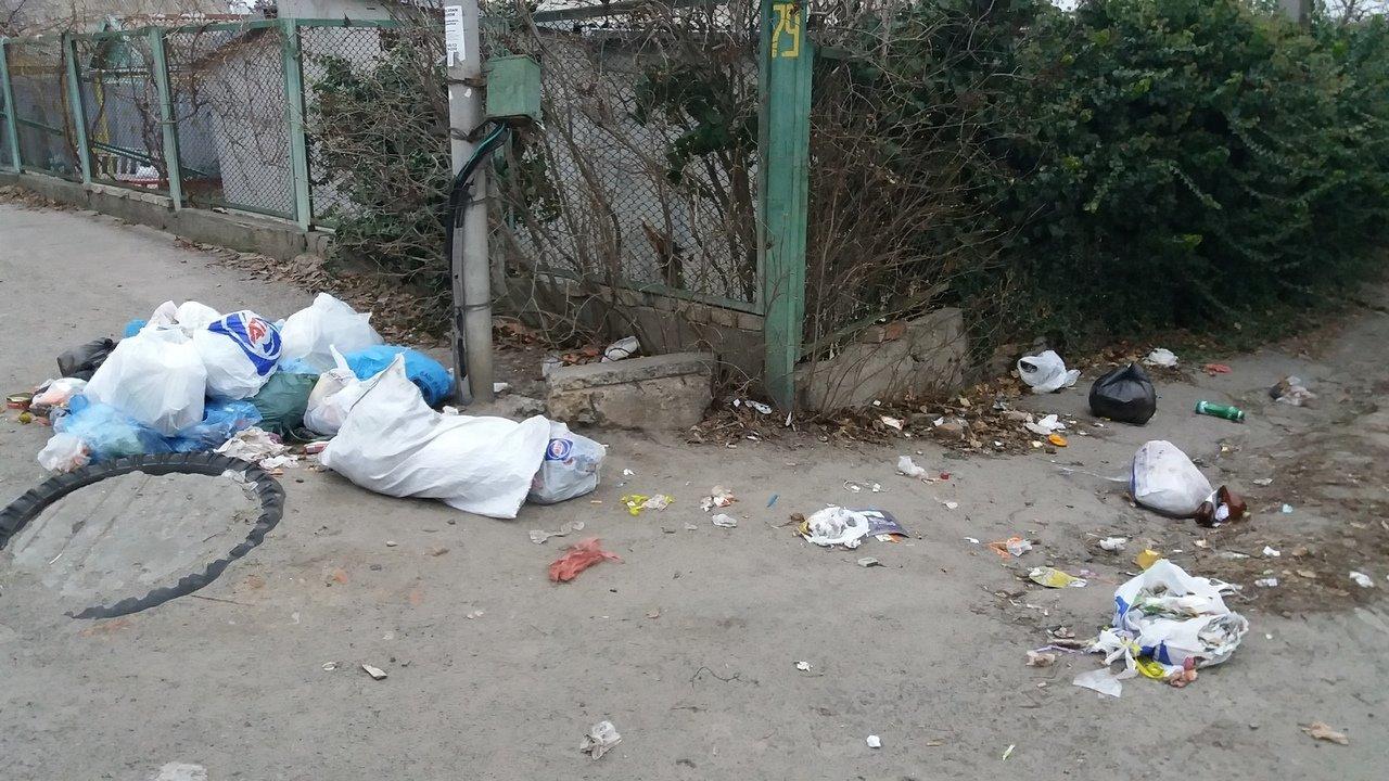 В Мелитополе на улице горожане устроили свалку, фото-2, Фото из соцсетей