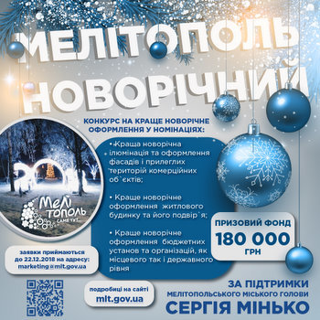 """Определены победители городского конкурса """"Мелитополь новогодний"""", фото-1"""