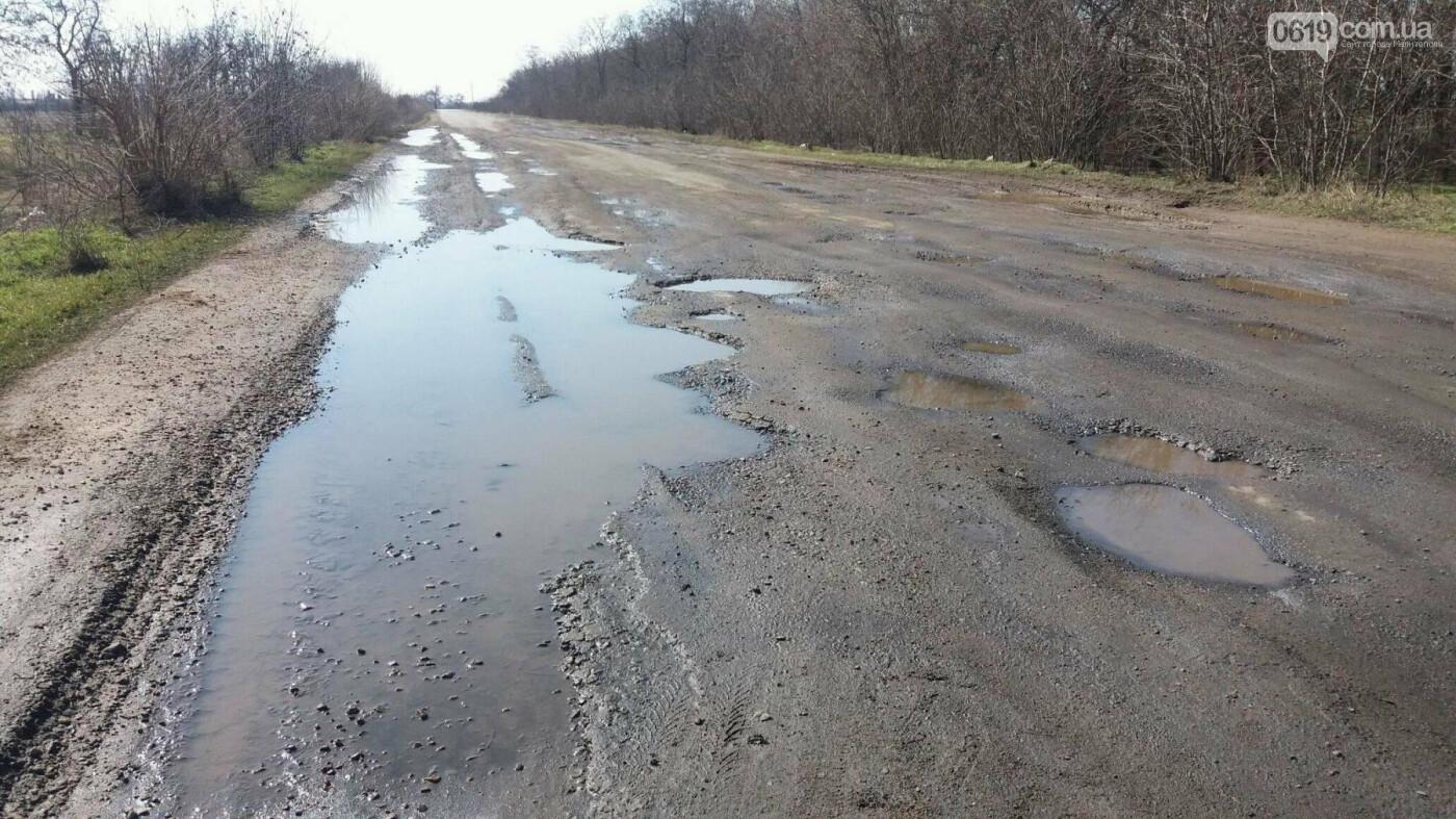 Об аварийной дороге в Мелитопольском районе узнает Президент , фото-2