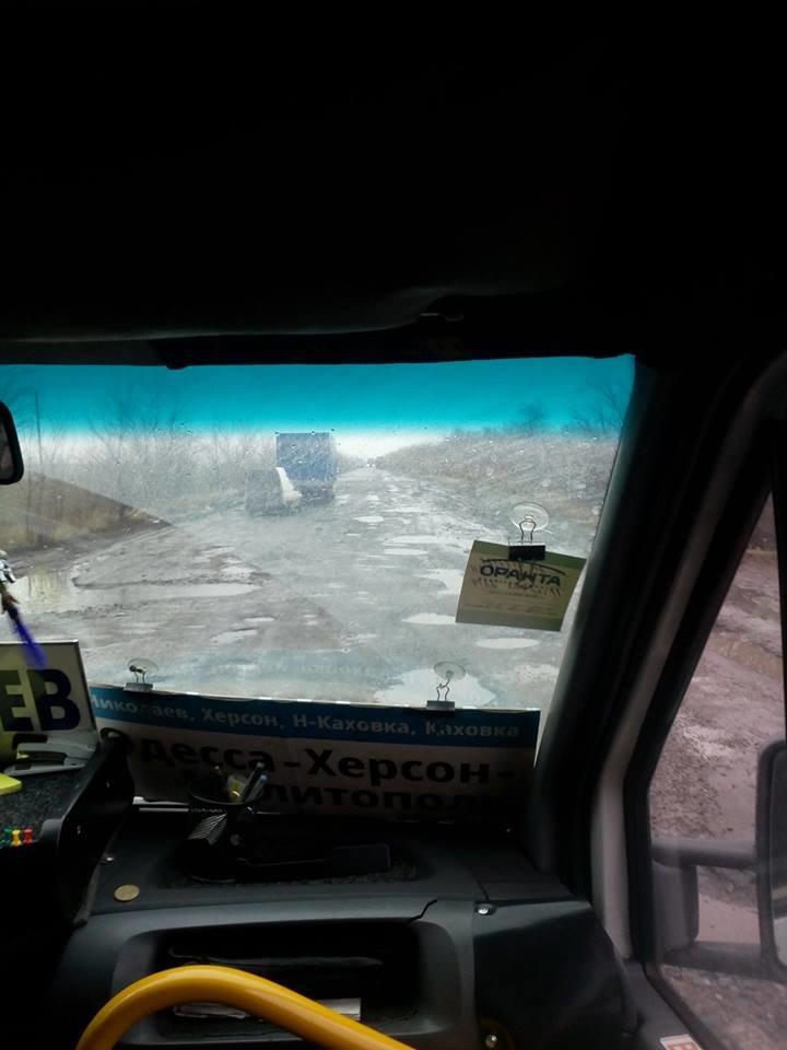 В сети показали состояние дороги между Мелитополем и Херсонской областью, фото-3