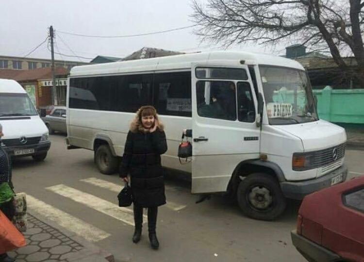 Мелитопольский маршрутчик высадил пассажиров на пешеходном переходе, фото-2, Фото из соцсетей