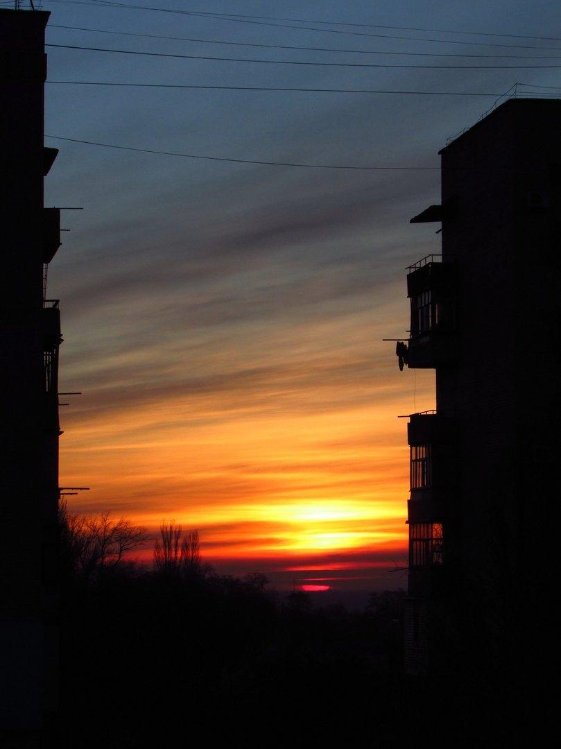 В сети опубликовали фото потрясающего рассвета в Мелитополе, фото-3