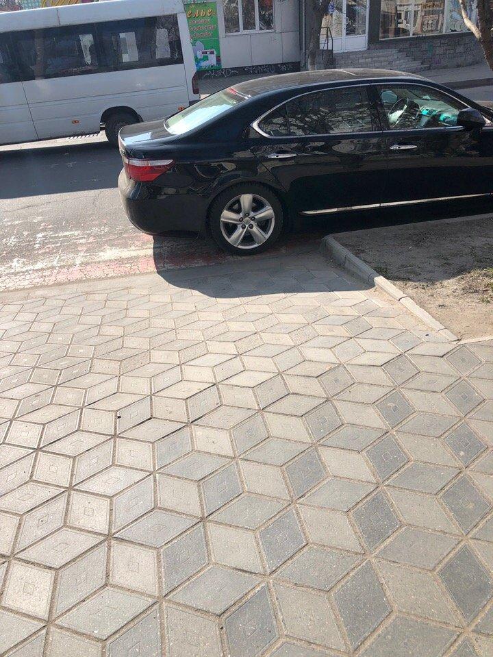 В Мелитополе автохам припарковался на пешеходном переходе, фото-1, Фото из соцсетей