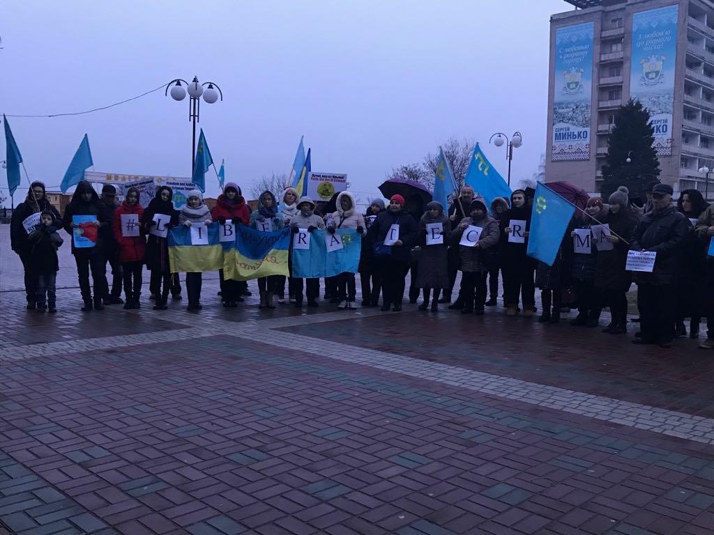 Мелитопольцы провели акцию против оккупации Крыма, фото-2
