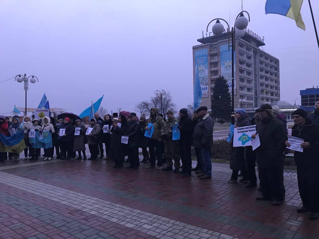 Мелитопольцы провели акцию против оккупации Крыма, фото-4
