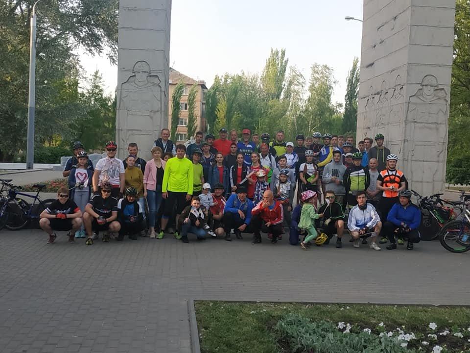В Мелитополе состоялся памятный велопробег , фото-2, Фото из соцсети