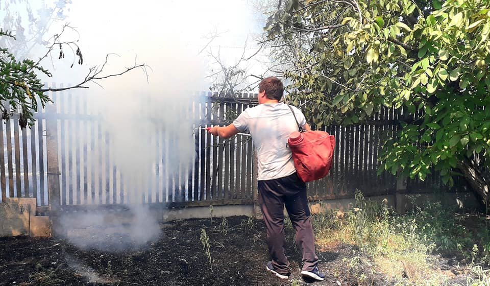 Пожар под Мелитополем тушили всем селом, - ФОТО  , фото-1, Фото со страницы Семеновского сельсовета в Фейсбук