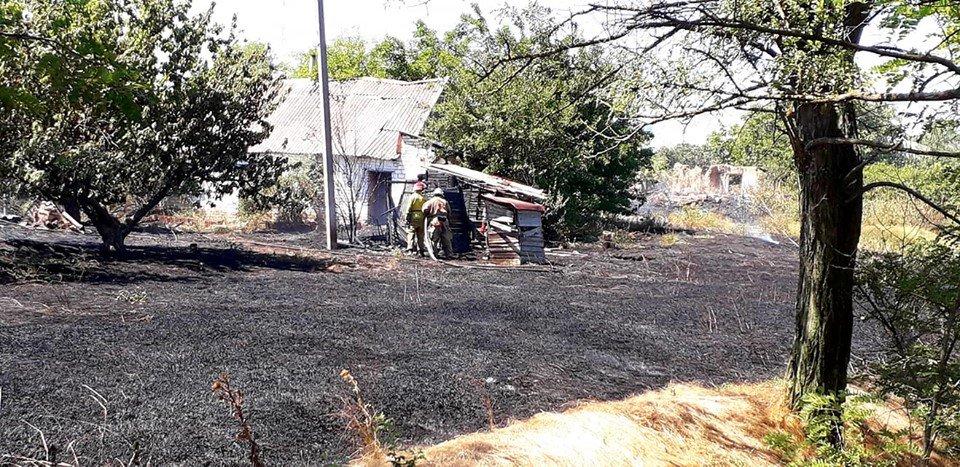 Пожар под Мелитополем тушили всем селом, - ФОТО  , фото-6, Фото со страницы Семеновского сельсовета в Фейсбук