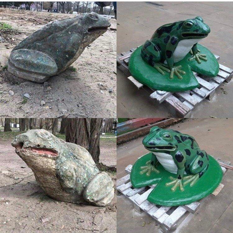 Отреставрированную старинную лягушку установят в центре мелитопольского парка , фото-1