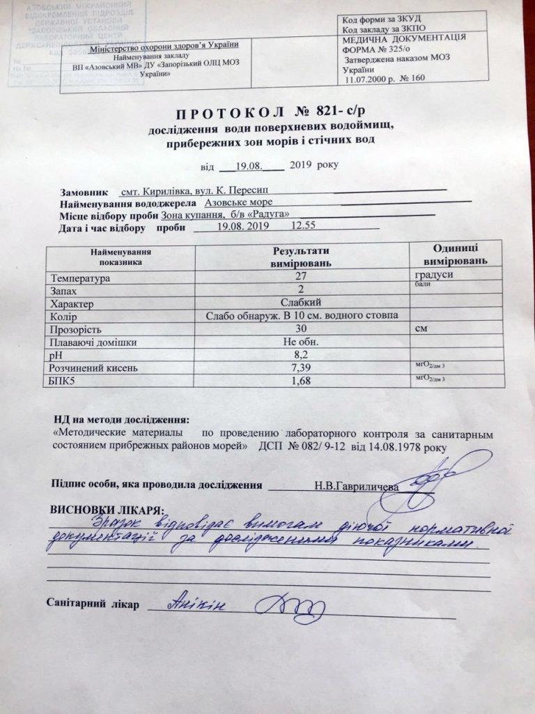 В Кирилловке проверили качество морской воды, фото-3