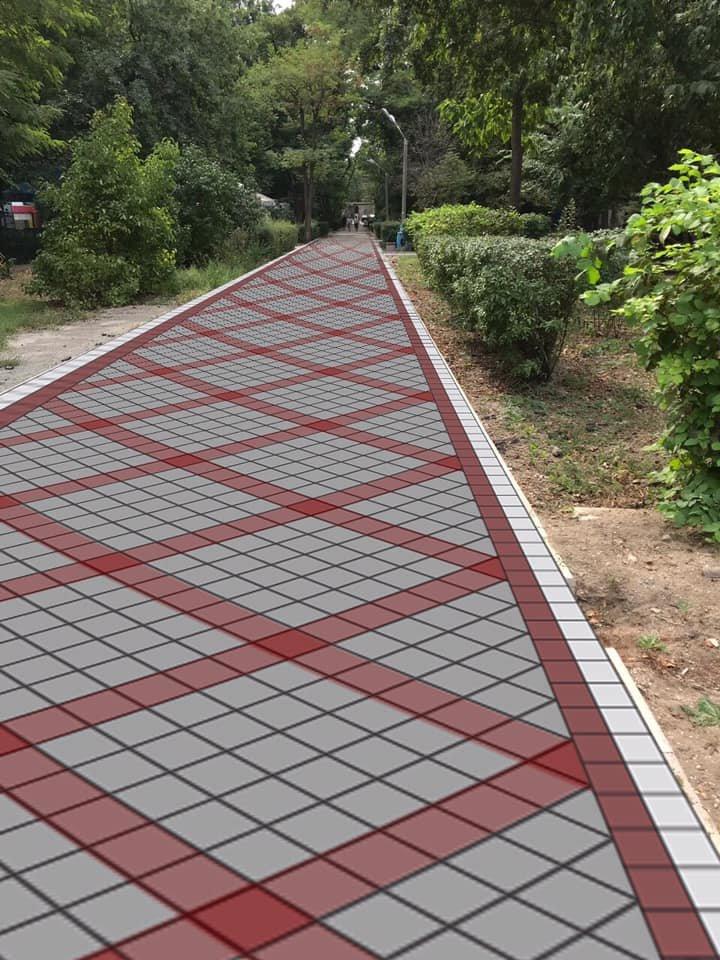 В мелитопольском парке укладывают плиткой еще одну аллею , фото-3, Фото со страницы парка в Фейсбук