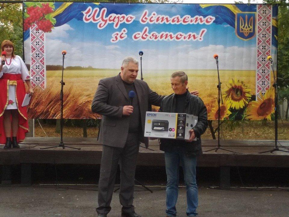 Жители села в Мелитопольском районе принимали поздравления , фото-1