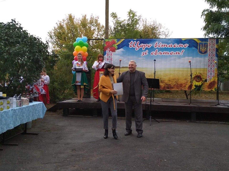 Жители села в Мелитопольском районе принимали поздравления , фото-4