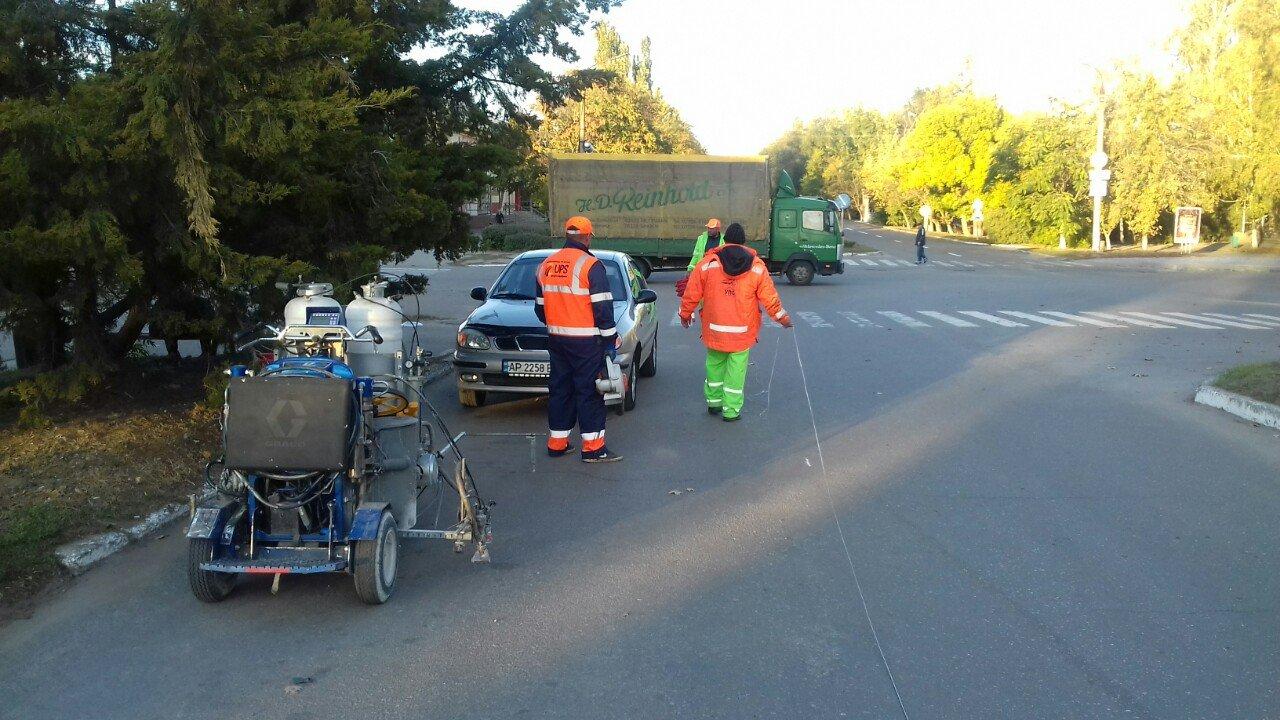 В Акимовке восстанавливают дорожную разметку , фото-3, Фото с сайта Акимовской ОТГ