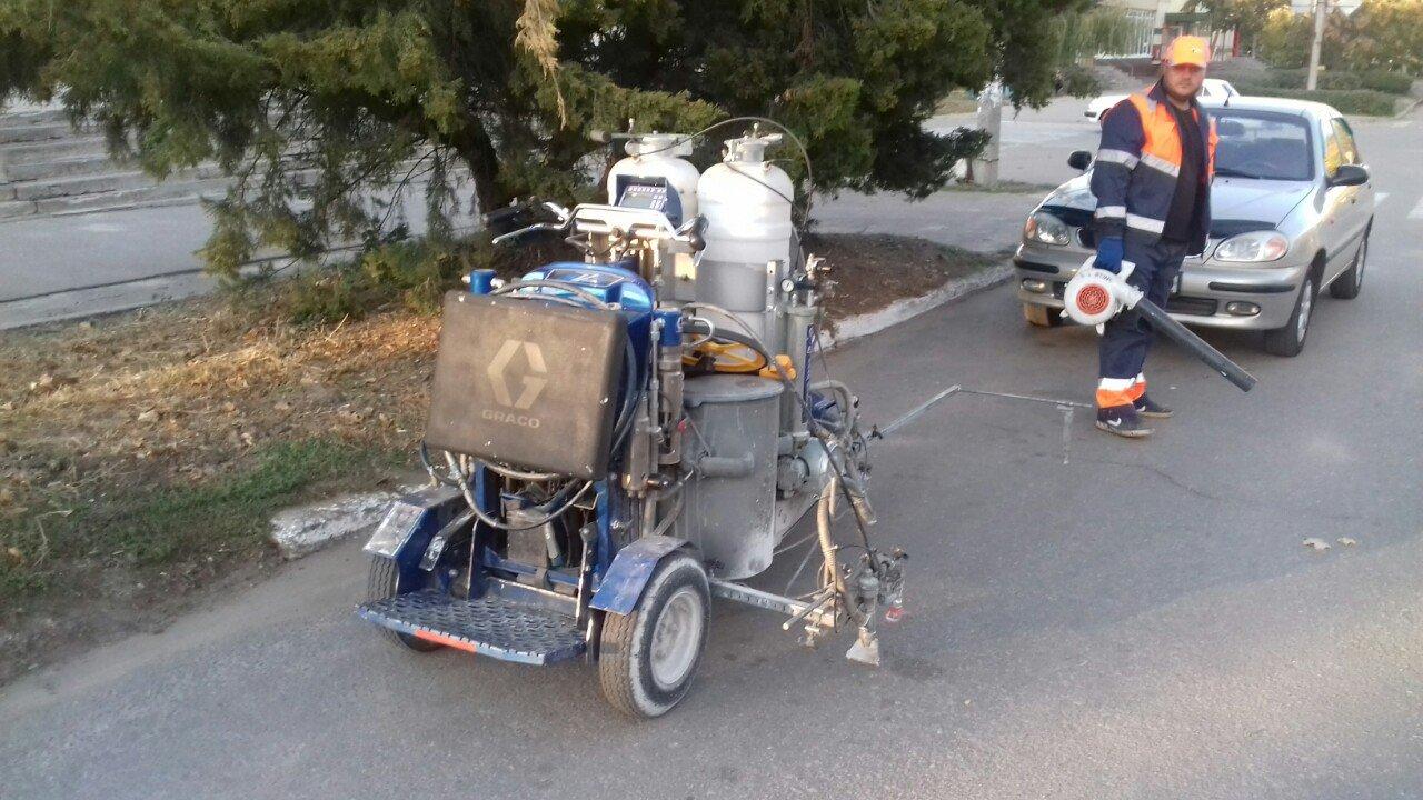 В Акимовке восстанавливают дорожную разметку , фото-1, Фото с сайта Акимовской ОТГ