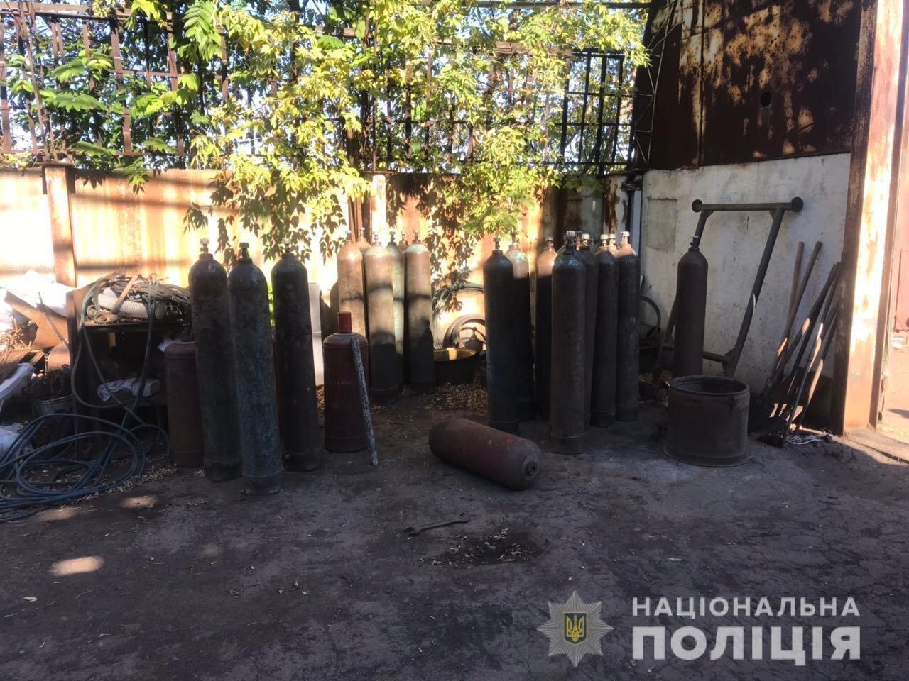 В Акимовке обнаружили незаконный пункт приема металлолома, - ФОТО, фото-1