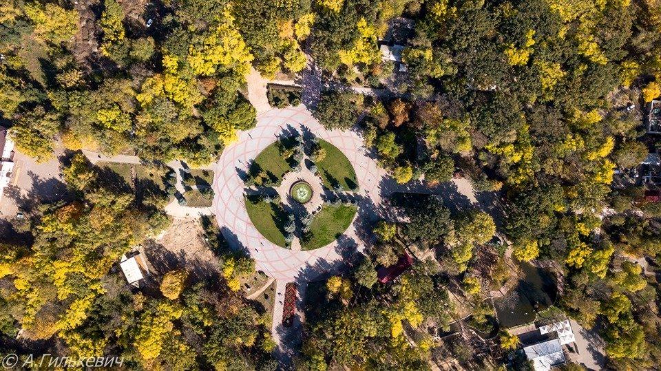 Город в золоте: осенний Мелитополь показали с высоты птичьего полета, - ФОТО, фото-3