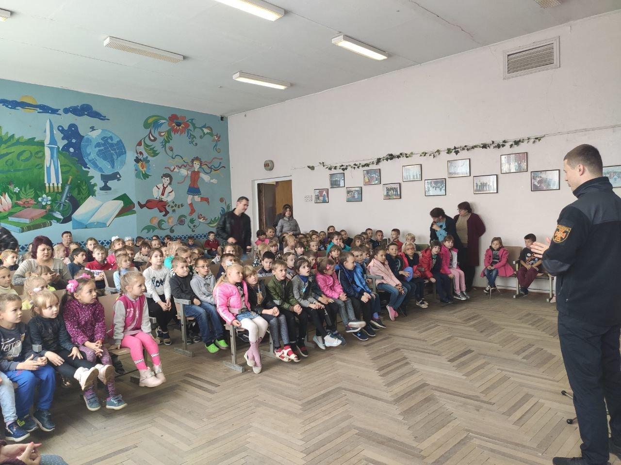 Акимовские спасатели посетили школу, фото-2