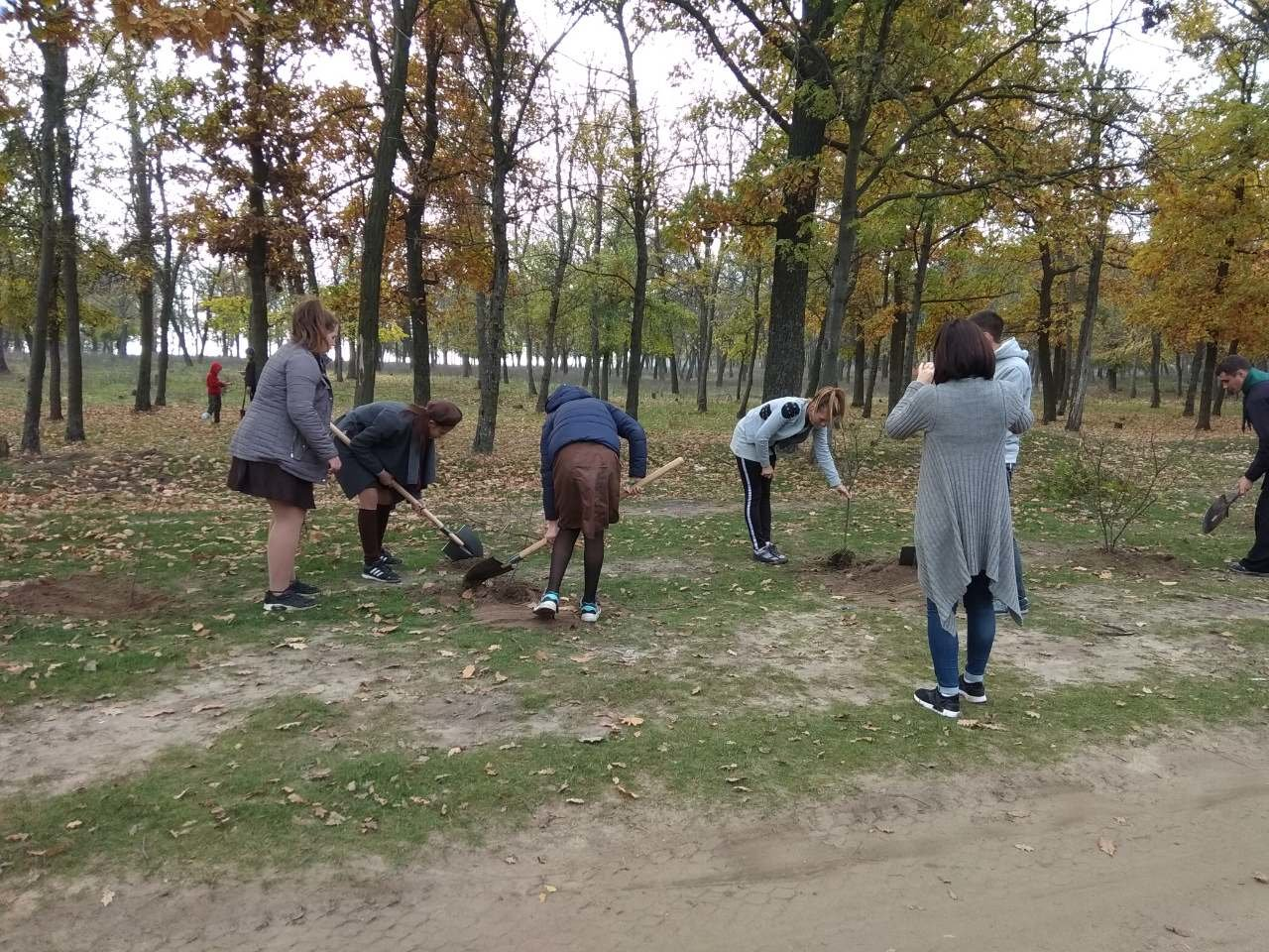 В мелитопольском лесопарке высадили более 100 молодых деревьев, фото-7