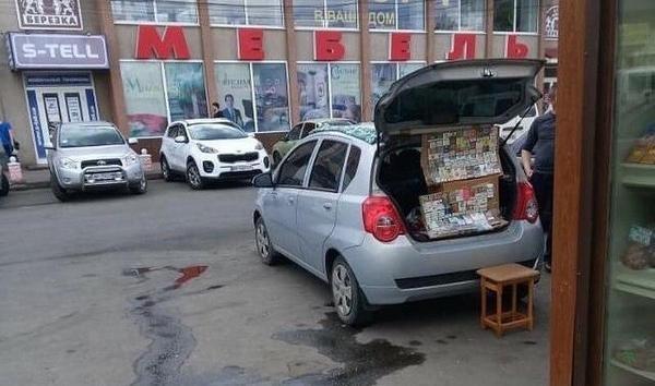 Предприимчивые мелитопольцы ведут торговлю из багажников атомобилей, фото-2
