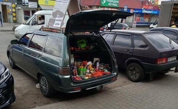 Предприимчивые мелитопольцы ведут торговлю из багажников атомобилей, фото-3