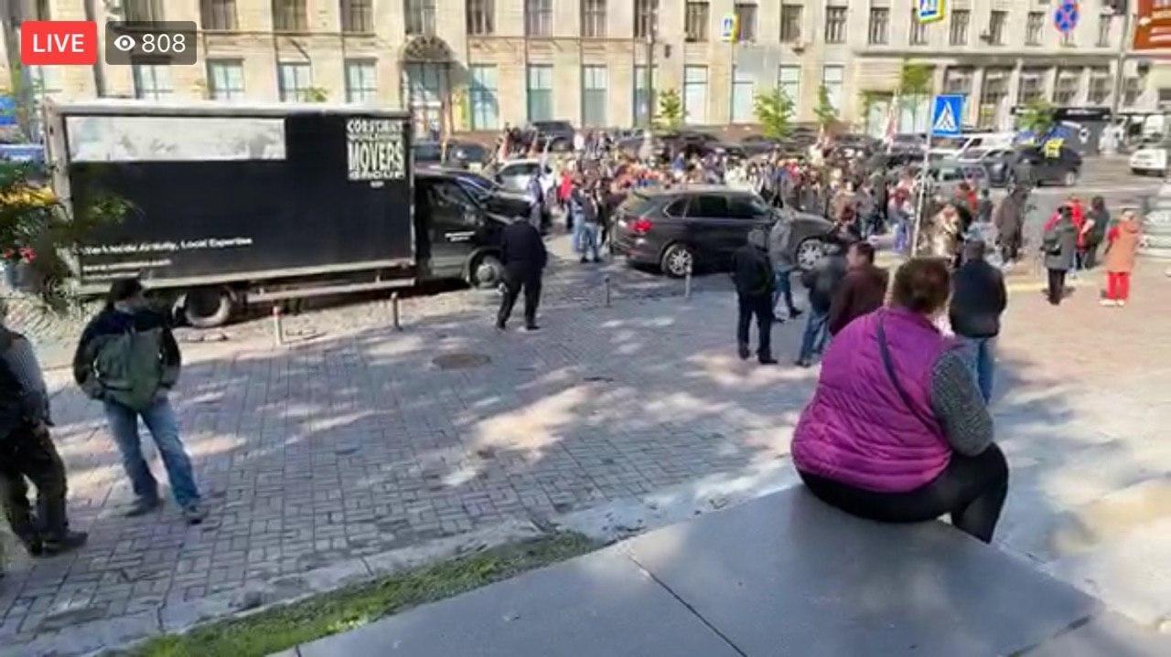 Предприниматели митингуют под стенами Кабмина против последствий карантина, фото-1
