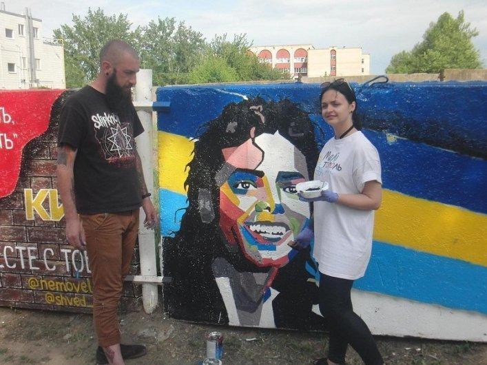 """В Мелитополе на """"Стене памяти"""" рисуют мировую звезду, фото-1"""