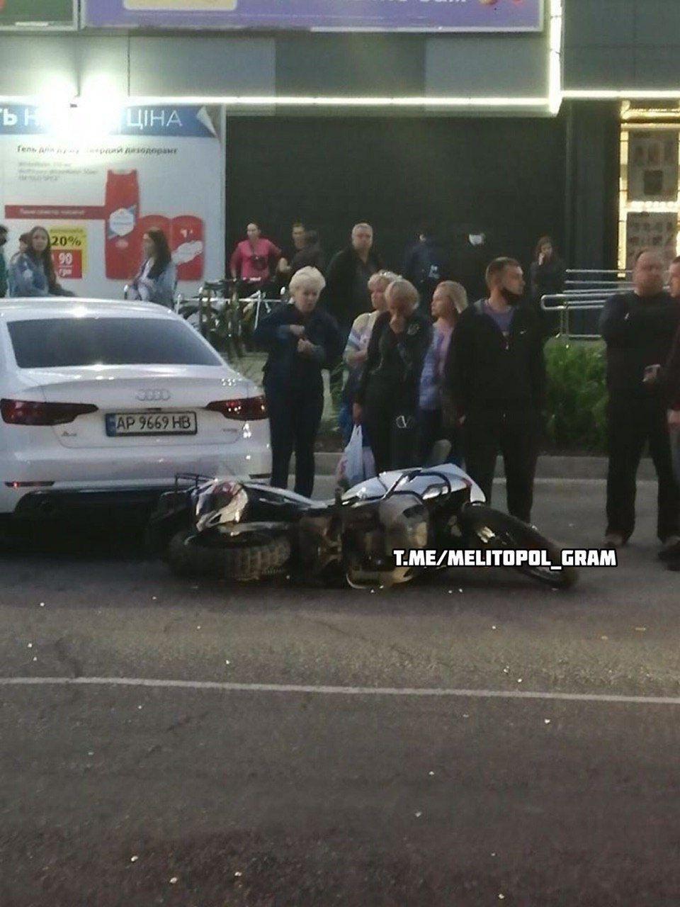 В Мелитополе произошло серьезное ДТП с мотоциклистом, фото-2