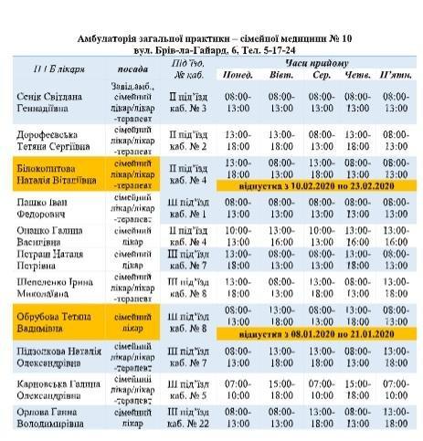 График работы врачей в Мелитополе, фото-2