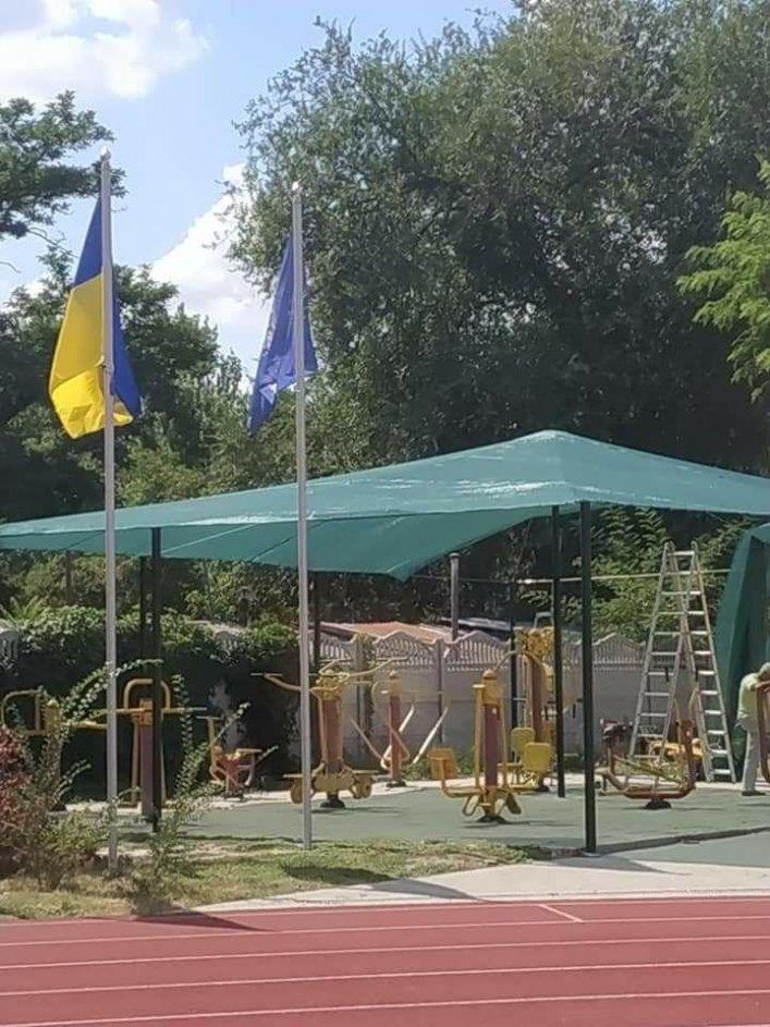 Мелитопольская спортивная площадка в парке стала еще уютнее, фото-2