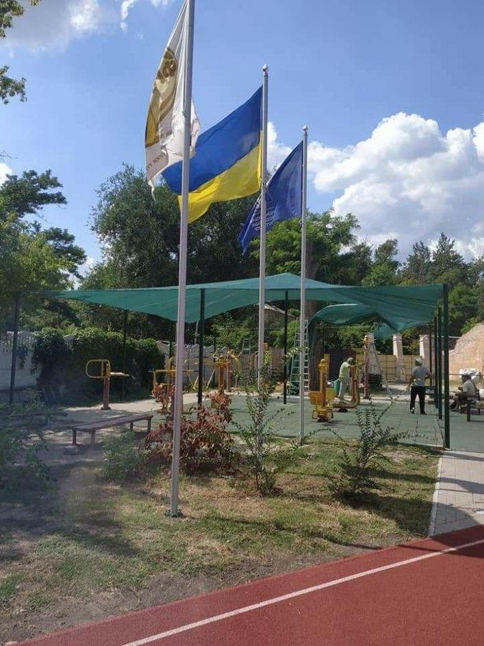 Мелитопольская спортивная площадка в парке стала еще уютнее, фото-3