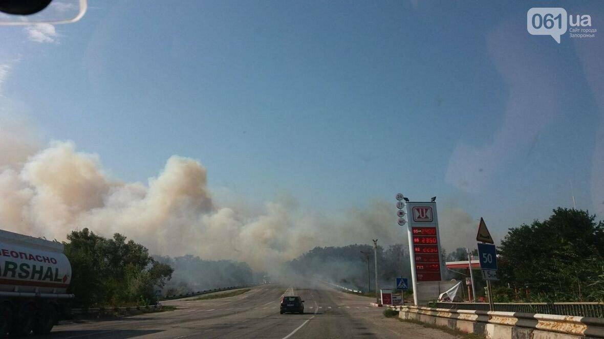 Пожар на трассе Запорожье-Васильевка, Сайт 061.ua