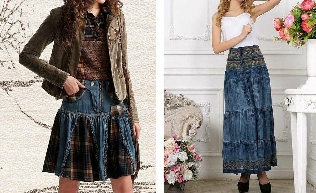 Стильные юбки джинсовые на Клубке