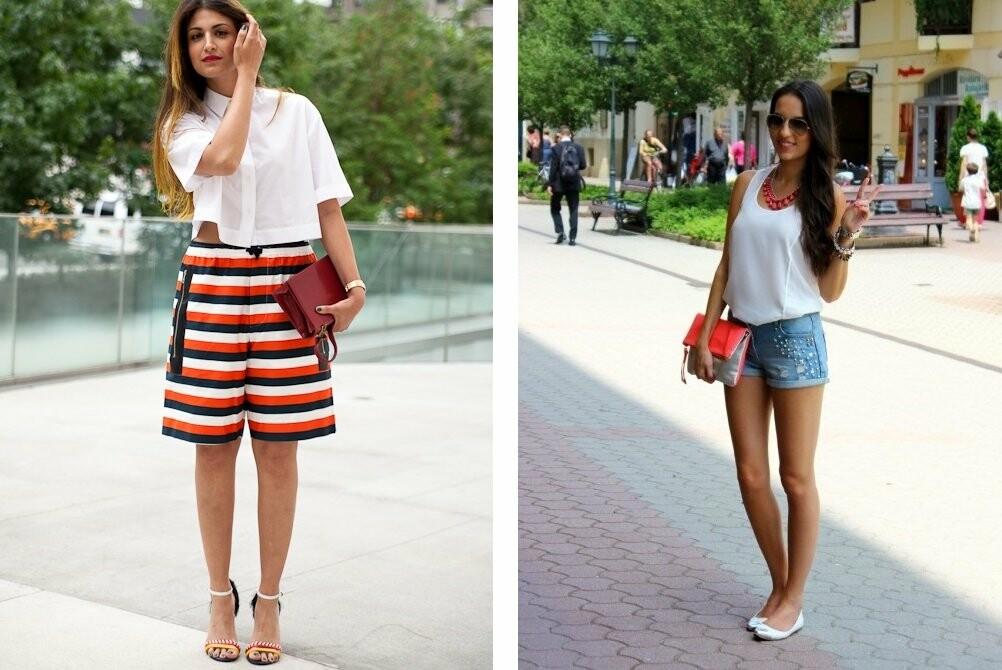 Модные женские короткие шорты